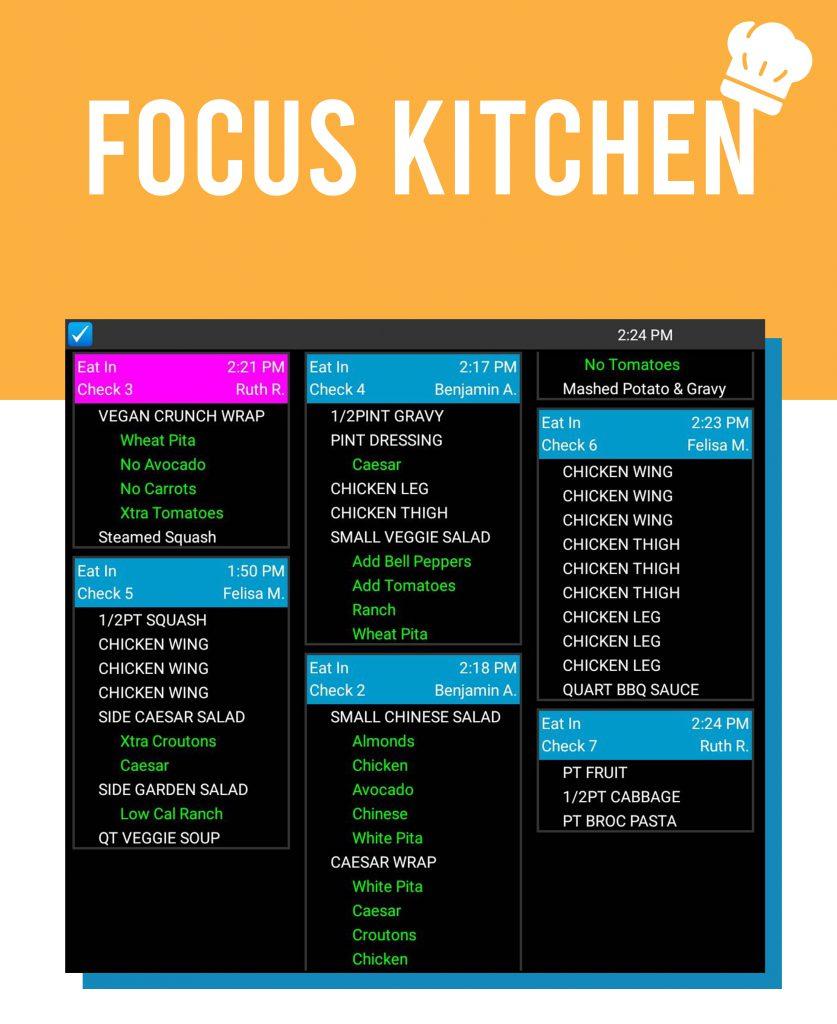 Focus Kitchen Order Management
