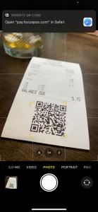 Focus MobilePay QR Code Receipt